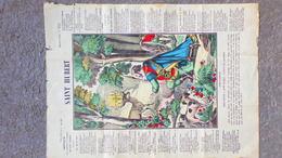08- ARDENNES- IMAGE EPINAL PELLERIN- CANTIQUE SAINT HUBERT PATRON DES CHASSEURS CHASSE DES ARDENNES-ORAISON TRES DEVOTE - Historical Documents
