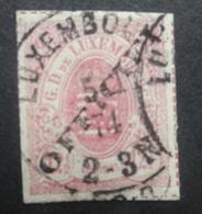 LUXEMBURG  1875  Dienstzegels  Nr. 4 - I    Gestempeld    CW  750,00 - Officials