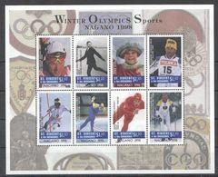 H357 ST.VINCENT OLYMPIC GAMES 1998 NAGANO WINTER SPORTS 1KB MNH - Winter 1998: Nagano