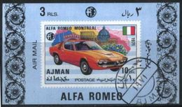 Ajman (United Arab Emirates) Alfa Romeo Classic Car Used Cancelled Block M/S (U-102) - Cars