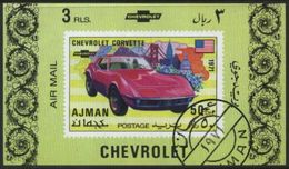 Ajman (United Arab Emirates) Chevrolet Classic Car Used Cancelled Block M/S (U-102) - Cars