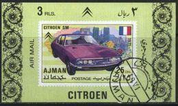 Ajman (United Arab Emirates) Citroen Classic Car Used Cancelled Block M/S (U-102) - Cars