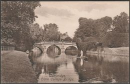 Clare College Bridge, Cambridge, Cambridgeshire, C.1910s - Frith's Postcard - Cambridge