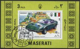 Ajman (United Arab Emirates) Maserati Classic Car Used Cancelled Block M/S (U-102) - Cars