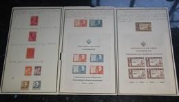 CUBA STAMP COLLECTION 1940/54 MINI SHEETS ARCHIVE SOURCE - Cuba