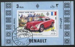 Ajman (United Arab Emirates) Renault Classic Car Used Cancelled Block M/S (U-102) - Cars