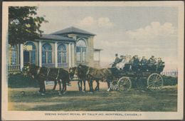 Seeing Mount Royal By Tally-Ho, Montreal, C.1910s - Photogelatine Engraving Co Postcard - Montreal