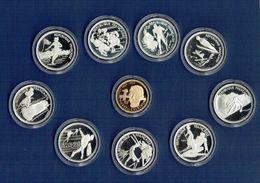 Monnaies -  JO D'Alberville De 1992 - 500f OR Et 100f ARGENT X 9 Avec Tous Les Certificats Dans Son écrin D'origine. - France
