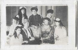 FAMILLE GRANDE DUCALE DU LUXEMBOURG Carte Photo Grande Duchesse Avec Sa Mère Grand Mère Et Soeurs - Koninklijke Familie