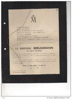 Baronne Brugmann Née Kenens °1844 +4/8/1923 Evere Du Roy De Blicquy Borghese De WAHA De Kerkhove D'exaerde Hambursin - Décès