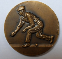Medaille DRAGO Bronze - Concours Boules VELAUX A.S.A.F 4-12-1982 - France