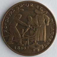 Médaille. Foire De Paris 1962. Souvenir D'une Visite Au Stand De La Monnaie. 35mm - Professionals / Firms