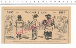 2 Scans Humour 1897 Affichage électoral Défense D'afficher Colleur D'affiches Affiche électorale Trichinose  216PF10X - Non Classés