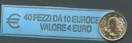 ITALIA  2016 - ROLL 10 CENT  ORIGINALE ZECCA - DATA VISIBILE - FDC - Rotolini