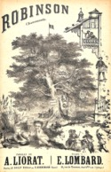 Robinson, Chansonnette. Partition Ancienne, Petit Format, Couverture Illustrée. - Partitions Musicales Anciennes