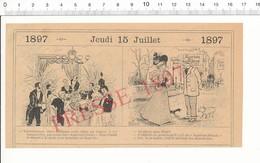 2 Scans Humour 1897 Dessert Suprême Pernot Fouilly-les-Canards Danse Ancienne Quadrille Bal Fête Nationale 216PF10X - Non Classés