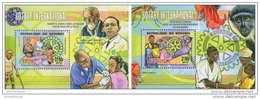 BURUNDI 2014 ** 2 S/S Polio Malaria Polio Paludisme - OFFICIAL ISSUE - A1525 - Rotary, Lions Club