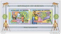 BURUNDI 2014 ** M/S Polio Malaria Polio Paludisme - OFFICIAL ISSUE - A1525 - Rotary, Lions Club