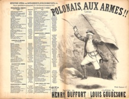Polonais, Aux Armes. Cantate, Partition Ancienne, Petit Format, Couverture Illustrée Donjean - Partitions Musicales Anciennes
