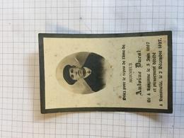 18A/3 - Antoine Ducat Ne Henzinne Dcd Henzinne 1927 - Décès