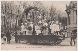 CPA CAVALCADE DE LA MI CAREME 1922 - Char Des Syndicats De L' Alimentation - France