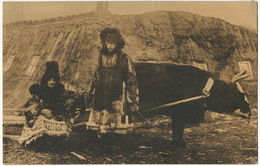 Homme De Lettres Et Sa Femme En Exil  Laponie Attelage De Boeuf - Norvège