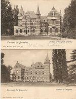 Oetinghen ( Oeingen) : Château D'Oetinghen ----- 2 Kaarten - Gooik