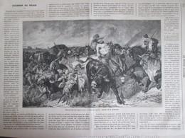 GRAVURE  1867 Les Pillards Gaulois Tableau De M Luminais - Non Classés