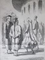 GRAVURE  1867 Quels Sont Les Plus Chinois Dessin De H DAUMIER  Illustrateur    Exposition Universelle - Non Classés