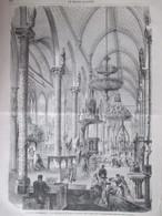 GRAVURE  1867 Exposition Universelle  LES OBJETS  DU CULTE CATHOLIQUE Interieur Chapelle - Non Classés