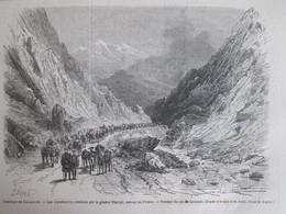GRAVURE  1867 Troubles De Catalogne   Les Carabinéros   Passage Du Col De  Gavarnie - Non Classés