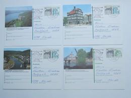 4 Bildpostkarten Verschickt - BRD