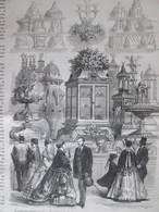 GRAVURE  1867 Exposition Universelle Mr Trottier  Fabricant De Moules Pour Le Déssert Patisserie   Et Pièces Montées - Non Classés