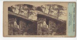 ERMENONVILLE GROTTE J.J. ROUSSEAU PHOTO STÉRÉO CIRCA 1860 FURNE ET TOURNIER  /FREE SHIPPING REGISTERED - Stereoscopio