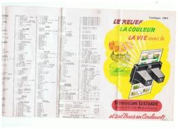 Liste Des Vues Stéréoscopiques LESTRADE - Catalogue 1961 - Photo, Diapositive,... - Programs