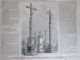 GRAVURE  1867 Exposition Universelle Mr Hernot Expose Ses Calvaires  Lannion - Non Classés