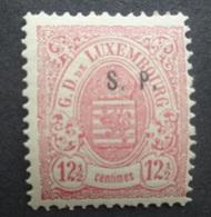 LUXEMBURG  1881  Dienstzegels  Nr. 31 - I   (2)    Spoor Van Scharnier *    CW  220,00 - Officials