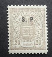 LUXEMBURG  1881  Dienstzegels  Nr. 32 - I       Spoor Van Scharnier *    CW  90,00 - Officials
