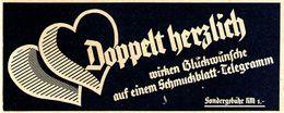 Original-Werbung/ Anzeige 1937 - SCHMUCKBLATT TELEGRAMM - Ca. 140 X 55 Mm - Werbung