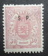 LUXEMBURG  1881  Dienstzegels  Nr. 34 - I       Scharnier *    CW  100,00 - Officials