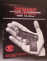Manuel Original Pour Le Pistolet Baby Browning Cal. 6,35 - Decorative Weapons