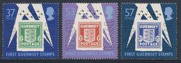 Guernsey 1991 Mi 513 /5 YT 515 /7 Sc 446 /8 ** 50 Jahre Marken Deutschen Besetzung Guernsey / First Guernsey Stamps - 2. Weltkrieg