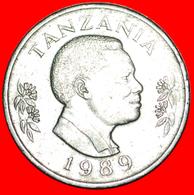 √ CANADA: TANZANIA ★ 1 SHILINGI 1989! LOW START ★ NO RESERVE! President Mwinyi (1985-1995) - Tanzania
