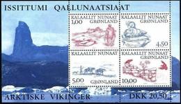 Groenland 2001 Yvertn° Bloc 20 *** MNH Cote 8,50 Euro Vikings Arctiques - Blocs
