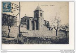 ARGENS  L'EGLISE CPA BON ETAT - France