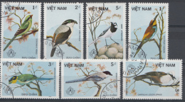 VIETNAM MI.NR. 1703-1709 VOGELS VÖGEL  USED / GEBRUIKT / OBLITERE 1986 - Vietnam