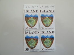 1975 Islande  Yv 465 X 4 ** Reboisement  Scott 488 Michel 512  SG 543 Forest - 1944-... Republique