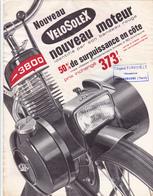 Publicité 1 Feuillet 21 X 27 SOLEX 3800 VELOSOLEX 3800 Mobylette  2 Roues (2 Scans) - Publicités