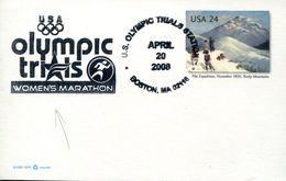 30902 U.s.a. Special Postmark 2008 Boston, Olympic Trials  Women's Marathon - Atletica