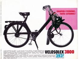 Publicité 1 Feuillet 21 X 27 SOLEX 3800 VELOSOLEX 3800 Mobylette  2 Roues Autre (2 Scans) - Publicités